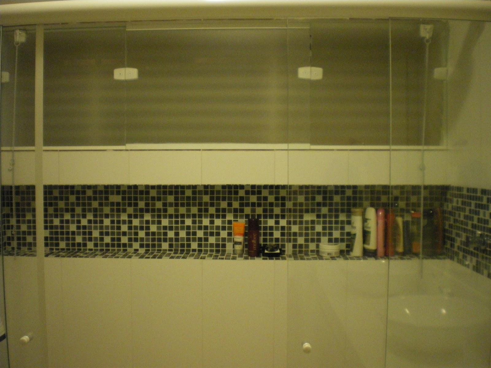 Nichos no Banheiro  Comprando Meu Apê -> Borda Nicho Banheiro