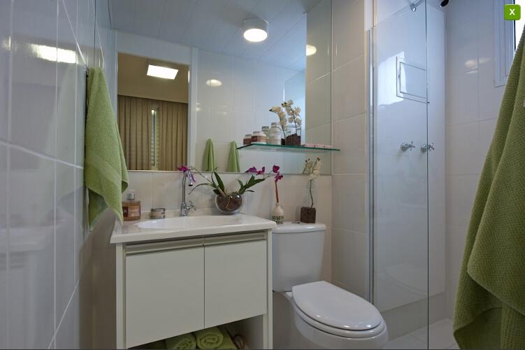 Apartamentos Decorados  Inspirações  Comprando Meu Apê -> Meu Banheiro Simples