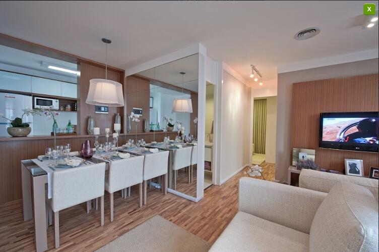 Sala De Jantar E Tv Apartamento ~ de tv integrada com a sala de jantar e a sala de estar