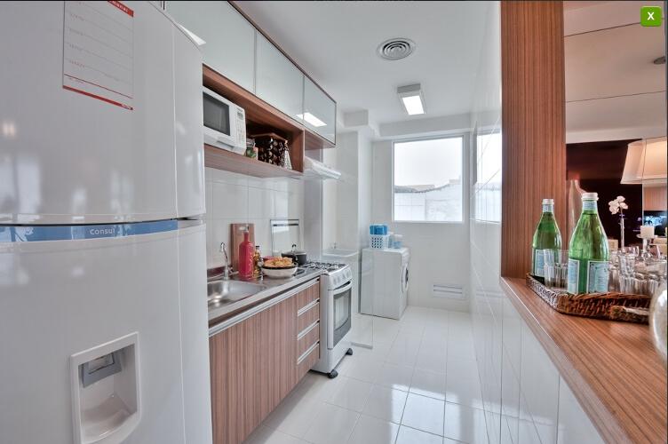 Apartamentos Decorados  Inspirações  Comprando Meu Apê # Cozinha Decorada Terra Nova