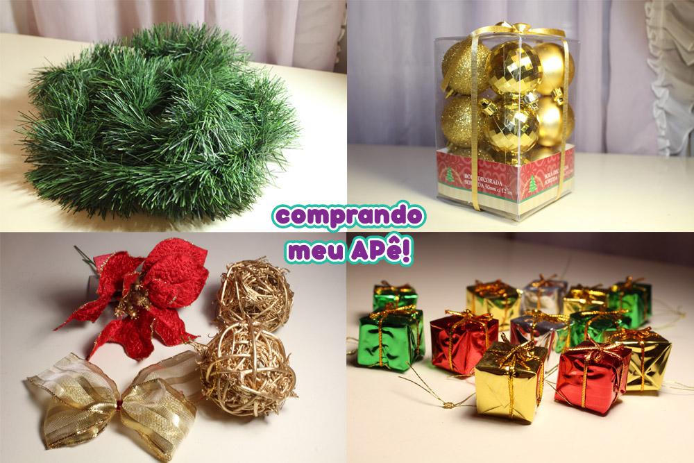 decoracao arvore de natal vermelho e dourado:festão de natal r $ 2 99 2 bolinhas de árvore de natal douradas r