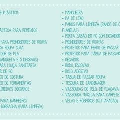 Lista de chá de cozinha / chá de panela