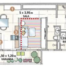 Apartamento de 65 m² com jeito de casa térrea