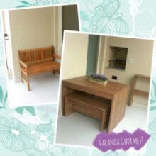 Apartamento da leitora + Painel de TV feito de piso vinílico