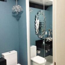 Apartamento da Leitora: hall e lavabo
