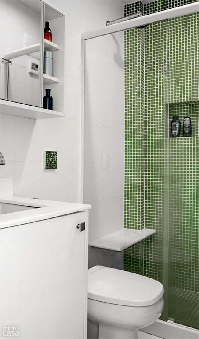 Boas ideias para apartamento pequeno ou quitinete!  Comprando Meu Apê -> Meu Banheiro Pequeno Decorado