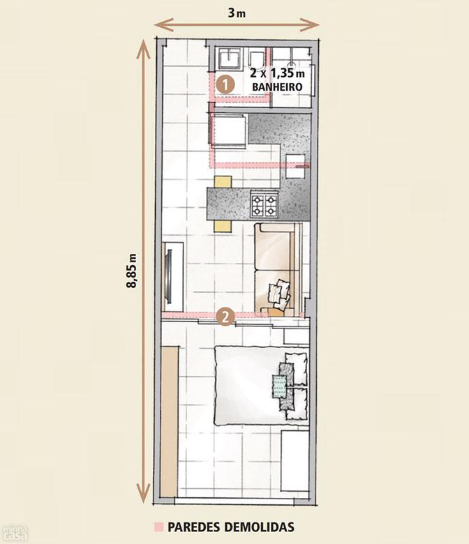Amado Boas ideias para apartamento pequeno ou quitinete! | Comprando Meu Apê EY01