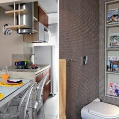 Boas ideias de decor e aproveitamento de espaço para apartamentos pequenos