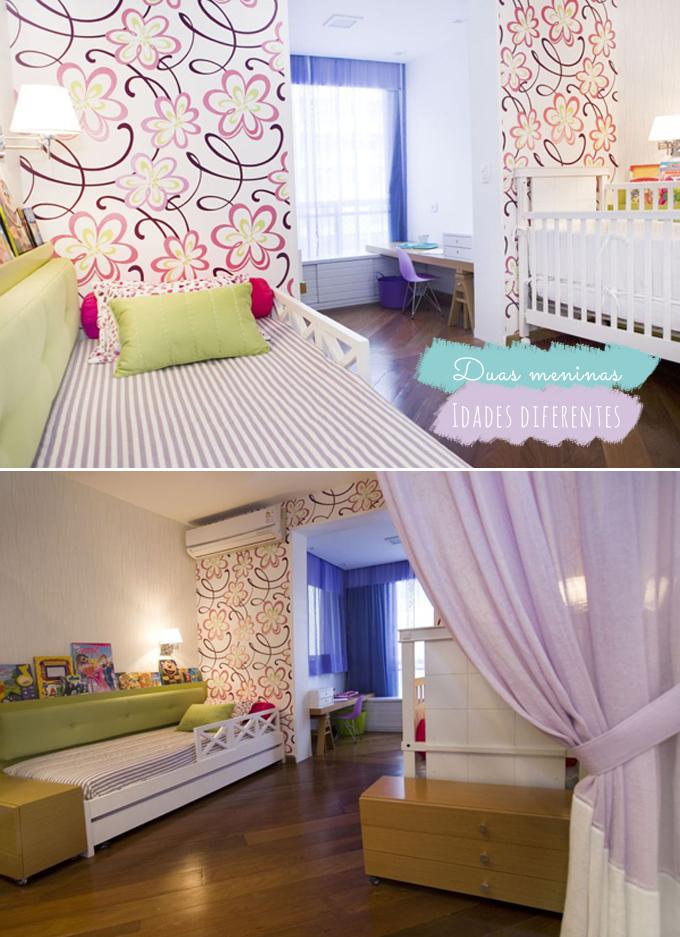No mesmo quarto menino + menina ou bebê + criança  Comprando Meu Apê