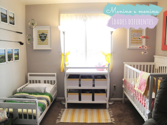 No mesmo quarto menino + menina ou bebê + criança  ~ Quarto Pequeno Para Bebe E Irmao