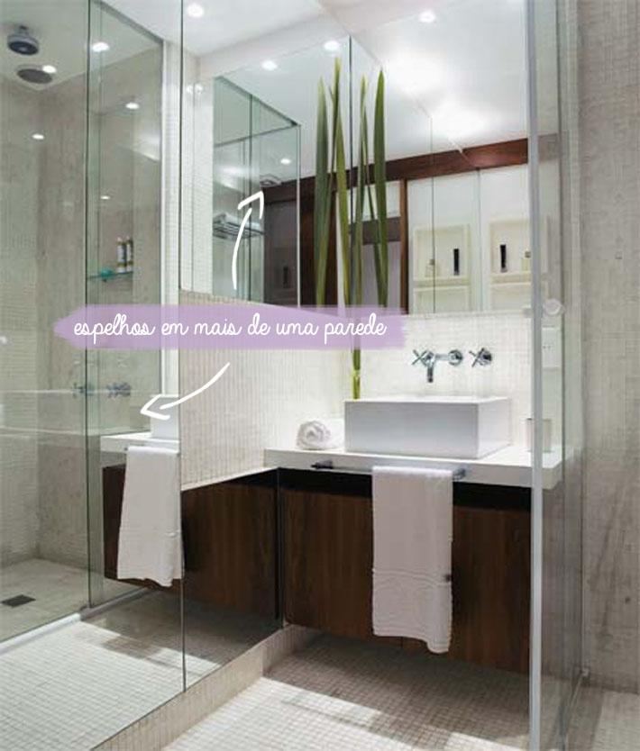 Dicas para banheiros pequenos  Comprando Meu Apê -> Banheiro Pequeno Com Espelho Ate O Teto