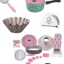 Kit de cozinha com estampa de cupcake!