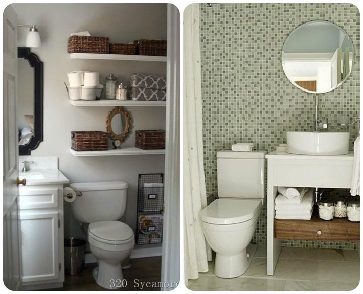 Decoração para banheiros pequenos  Comprando Meu Apê -> Decoracao De Banheiro Com Papel Contact