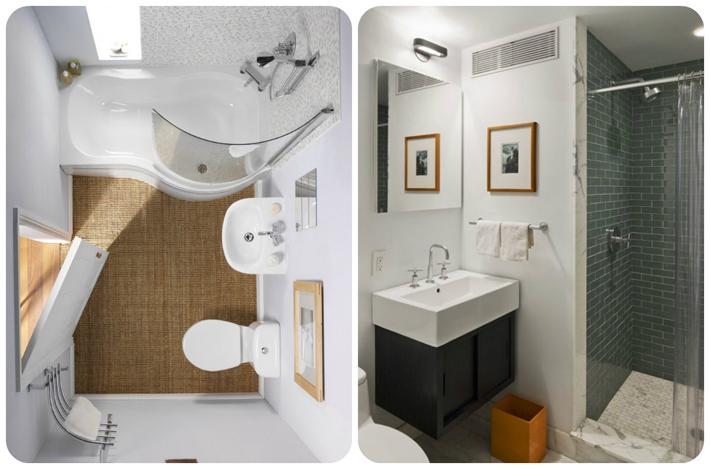 Decoração para banheiros pequenos  Comprando Meu Apê -> Banheiro Pequeno Com Maquina De Lavar