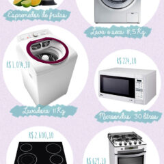 Eletrodomésticos para equipar a sua casa!