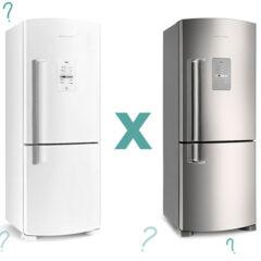 Geladeira Branca ou Inox?