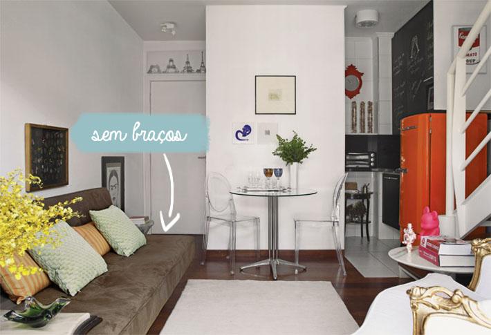 Sof s para salas pequenas comprando meu ap - Sofas pequenos medidas ...