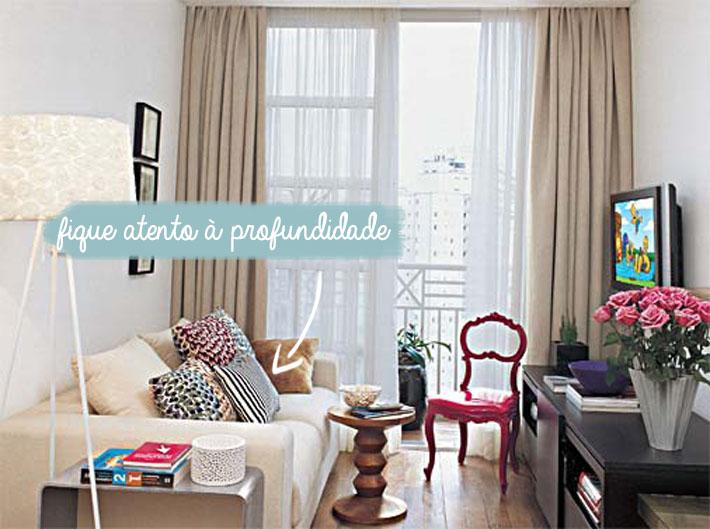 Sof s para salas pequenas comprando meu ap for Sala de estar larga