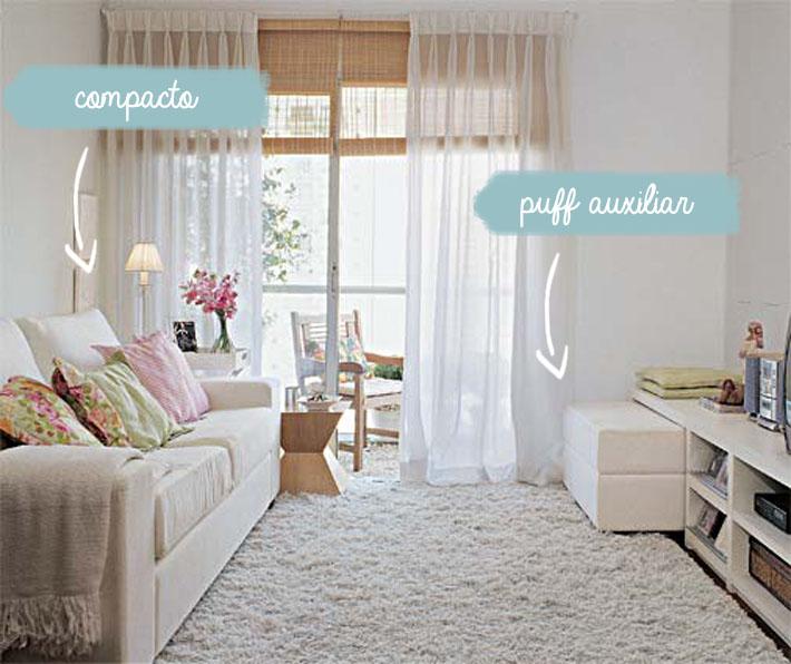 Sof s para salas pequenas comprando meu ap for Sofa estilo romantico