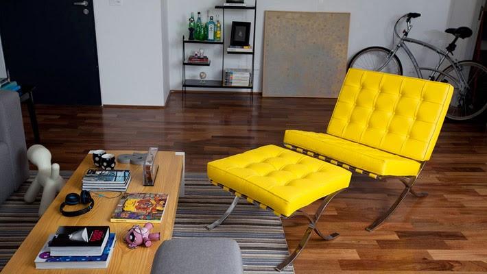 Sala De Estar Com Poltrona Amarela ~ Móveis para uma sala moderna e multifuncional  Comprando Meu Apê