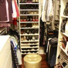 Antes e Depois: closet pequeno