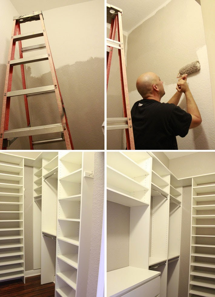 Antes e Depois closet pequeno  Comprando Meu Apê -> Closet Pequeno Com Banheiro
