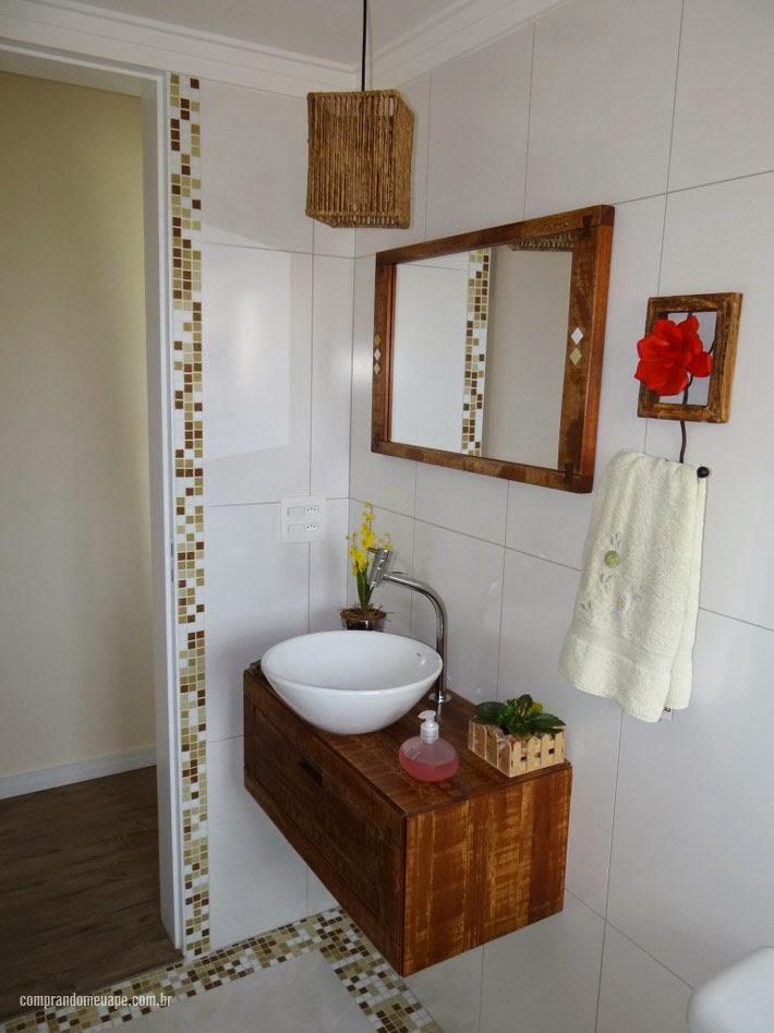 Apartamento da leitora Liete Sarti  Comprando Meu Apê -> Armario De Banheiro Com Pia Ferreira Costa