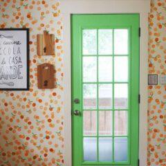 DIY: Parede da cozinha estampa de laranjas
