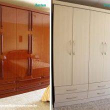 Antes e Depois: reforma de móveis com laminado adesivo