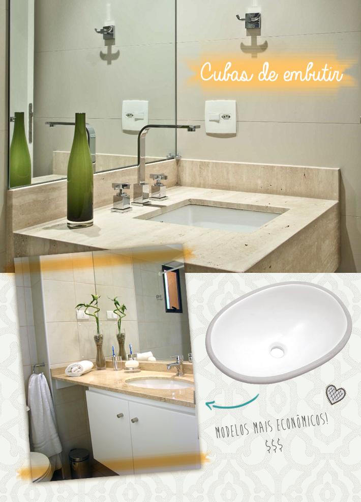 Tipos de cubas para o banheiro  Comprando Meu Apê -> Cuba Para Banheiro De Encaixe