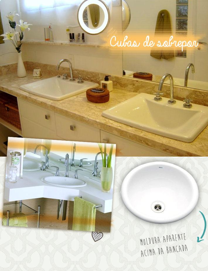 Tipos de cubas para o banheiro  Comprando Meu Apê -> Cuba Para Banheiro Quadrada De Embutir