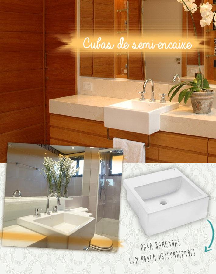 Tipos de cubas para o banheiro  Comprando Meu Apê -> Cuba Para Banheiro De Madeira