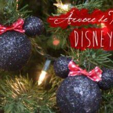 Árvore de Natal Disney: bolinhas Minnie e Mickey