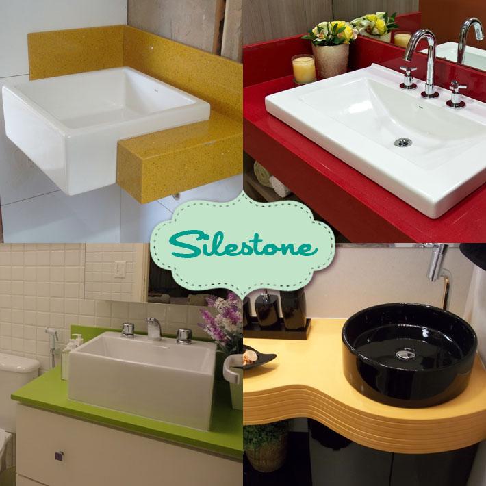 Tipos de bancadas para banheiro  Comprando Meu Apê -> Cuba Banheiro Silestone