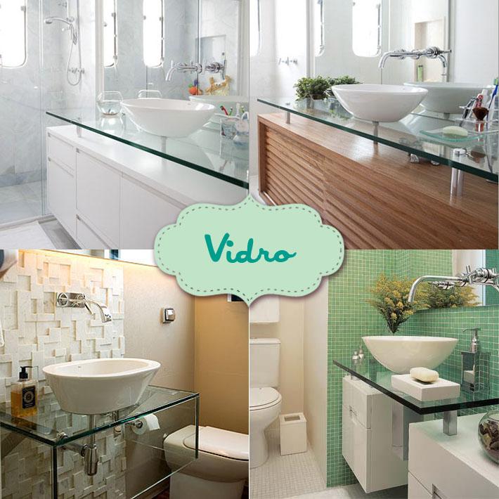 Tipos de bancadas para banheiro  Comprando Meu Apê  Comprando Meu Apê # Bancada De Banheiro Com Pastilha De Vidro