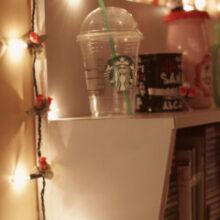 Decoração do meu quarto com luzes pisca-pisca (Natal)