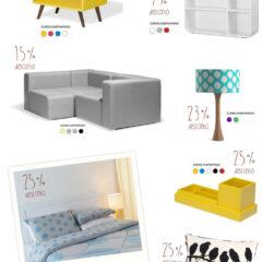Liquidação de Janeiro em móveis e decoração