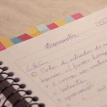 Meu caderninho de organização para a reforma do apê