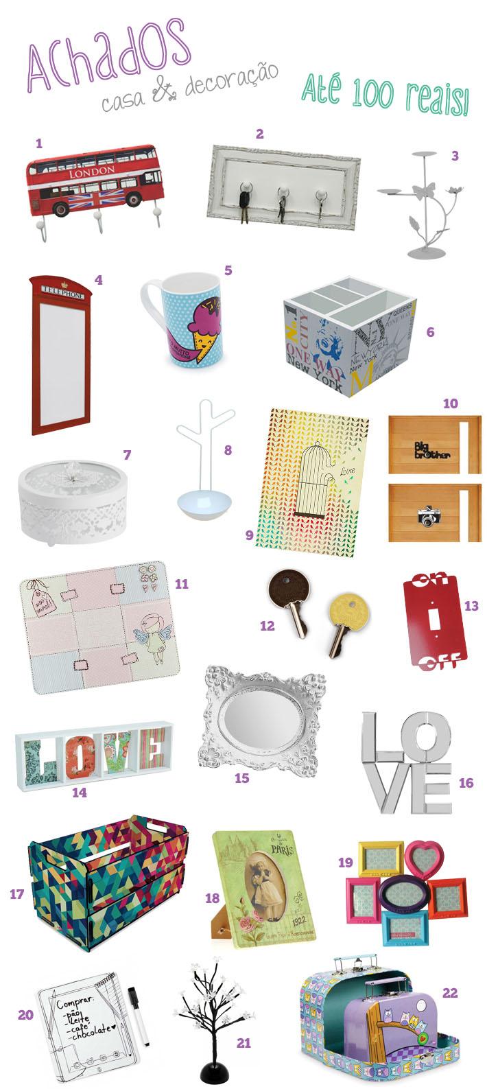 Achados objetos de decora o at 100 reais comprando for Objetos decorativos casa