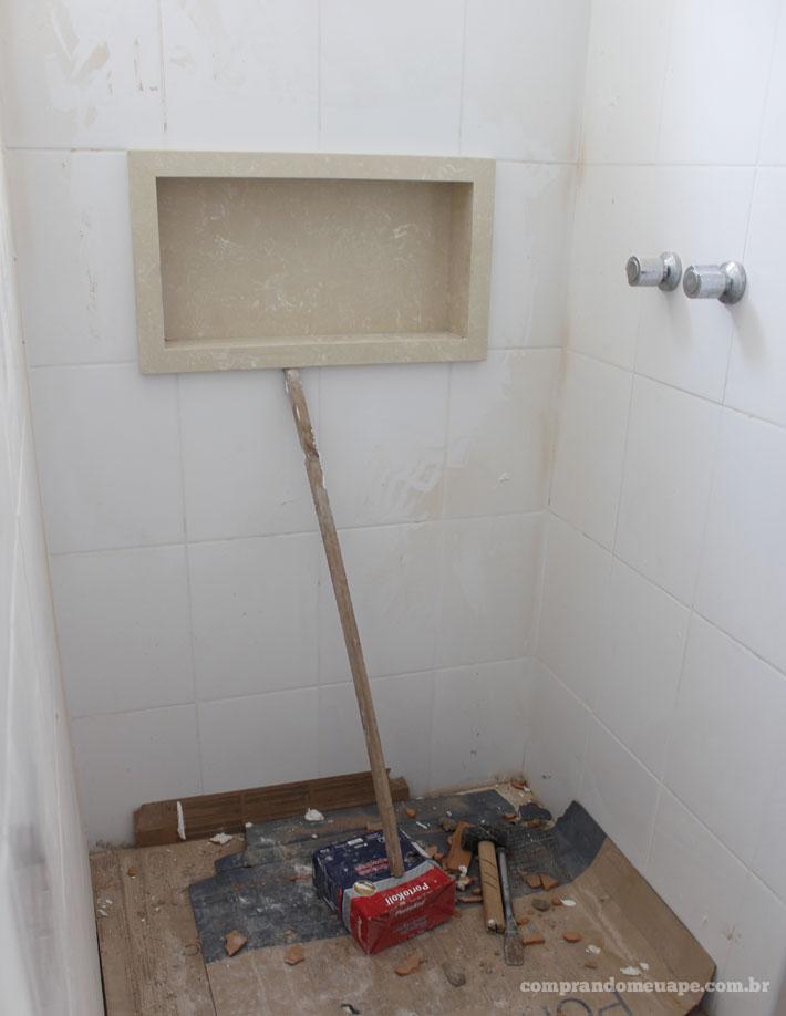 Tour pelo apê reforma #3 (suíte, closet, banheiro e gesso)  Comprando Meu A -> Nicho Banheiro Embutir
