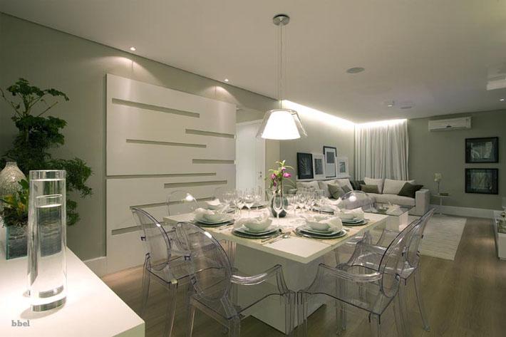 decorar sala branca:10 salas de jantar integradas. Como decorar?