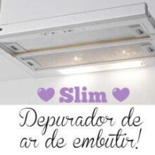 Depurador de ar de embutir: SLIM