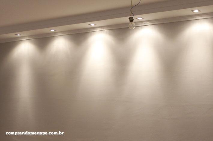 O gesso e a iluminação do meu apê (Spots Super LED e Dicróica ...