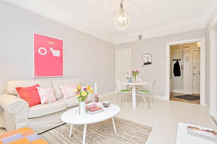 Apartamento pequeno cinza colorido comprando meu ap for Decoracion para estudios pequenos