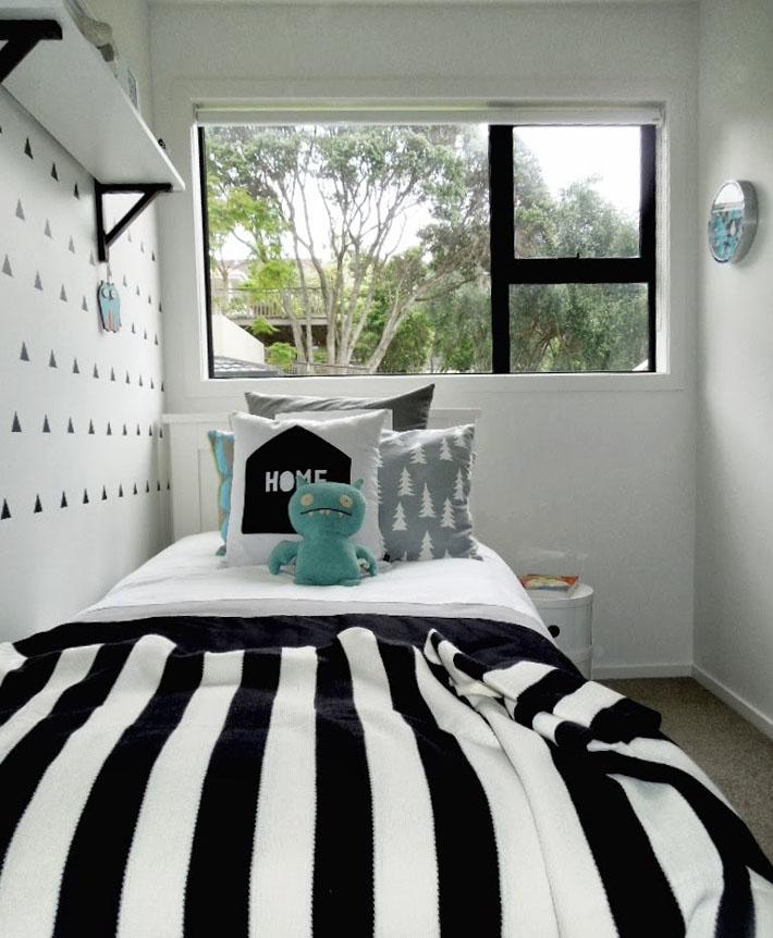 Inspiração quarto de solteiro preto e branco Comprando  ~ Quarto Solteiro Design