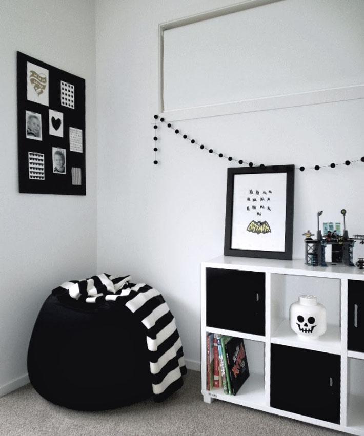 Inspiração quarto de solteiro preto e branco
