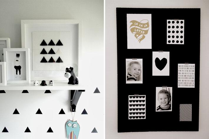 Inspiração quarto de solteiro preto e branco Comprando  ~ Quarto Solteiro Cinza E Branco