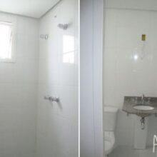 Meu banheiro (suíte) com pastilhas adesivas