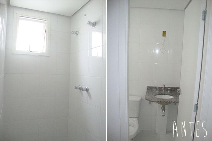 Meu banheiro (suíte) com pastilhas adesivas  Comprando Meu Apê -> Banheiro Pequeno Com Pastilhas Adesivas
