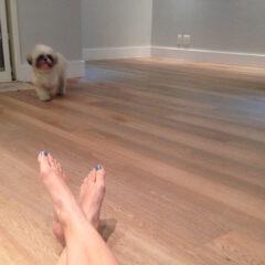 Meu piso vinílico e rodapés!